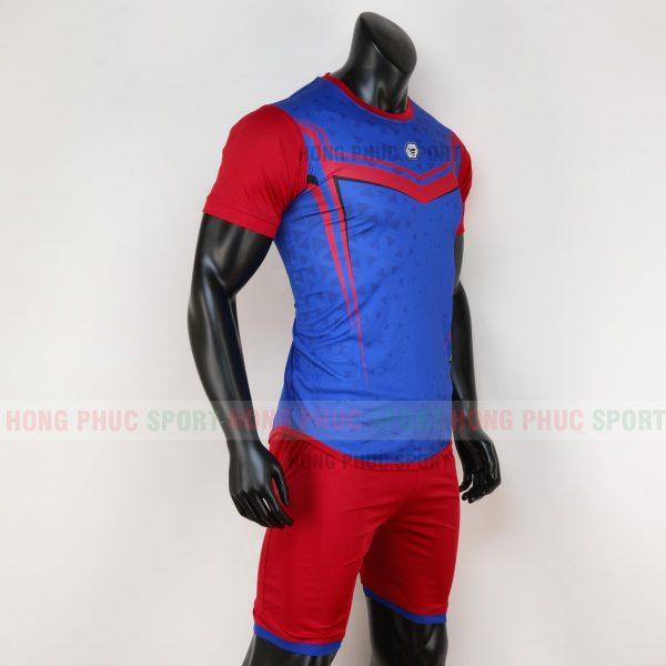 Áo bóng đá không logo mutanst màu xanh dương 1
