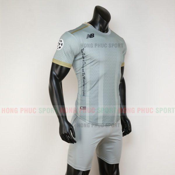 Áo bóng đá không logo newbalance màu xám 2