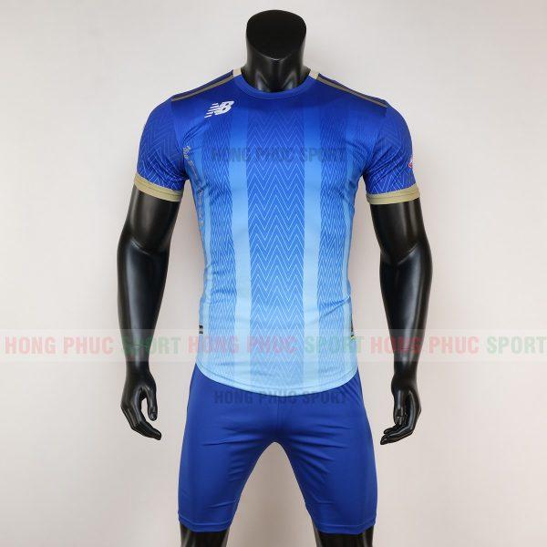 Áo bóng đá không logo newbalance xanh bích 6