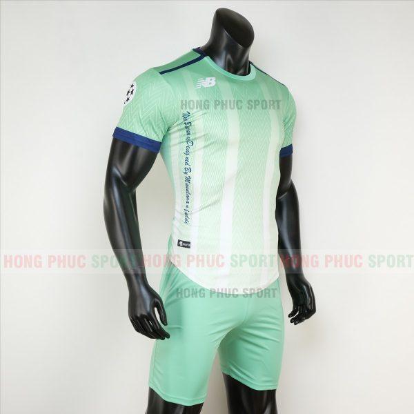 Áo bóng đá không logo newbalance xanh ngọc