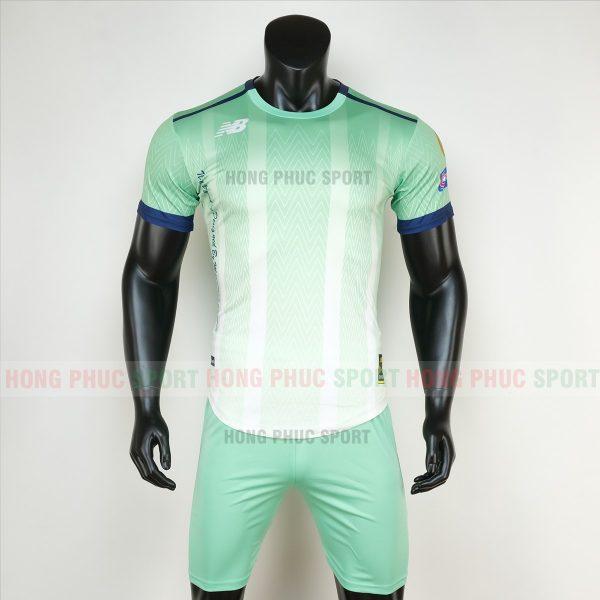 Áo bóng đá không logo newbalance xanh ngọc 5