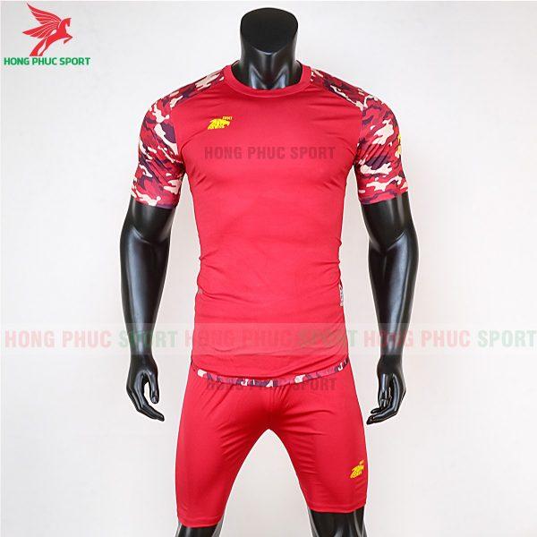 Áo bóng đá không logo Riki camor màu đỏ 1