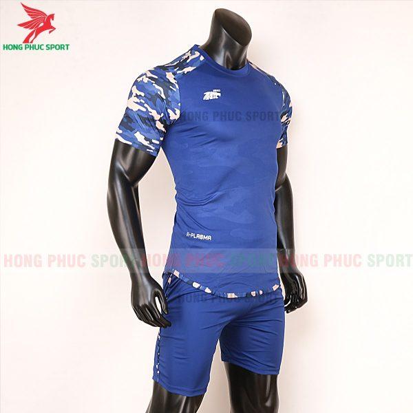 Áo bóng đá không logo Riki camor màu bích 5