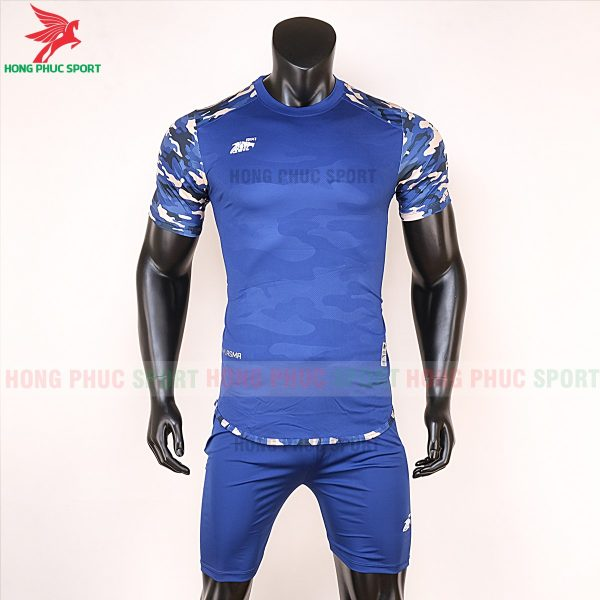 Áo bóng đá không logo Riki camor màu bích 1