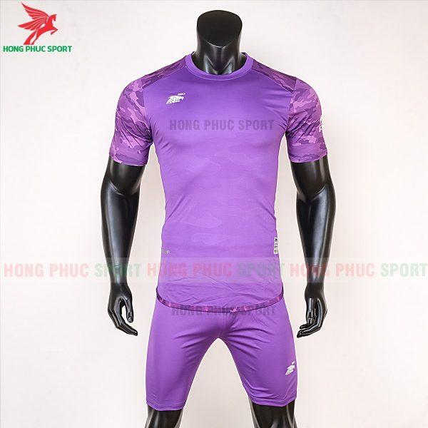 Áo bóng đá không logo Riki camor tím đậm 1