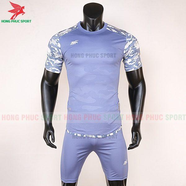 Áo bóng đá không logo Riki camor tím nhạt