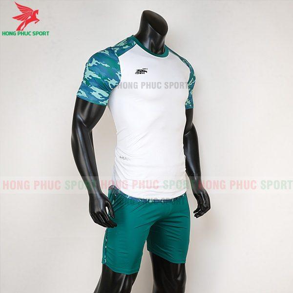 Áo bóng đá không logo Riki camor trắng rêu 4
