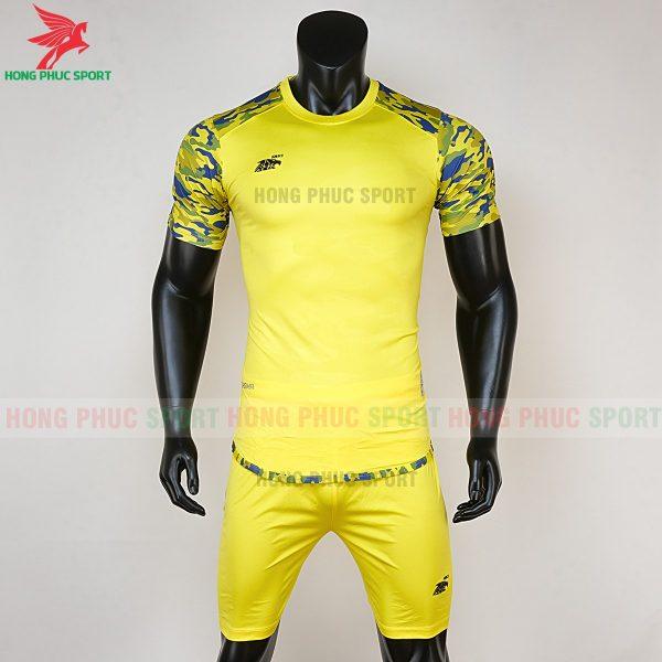 Áo bóng đá không logo Riki camor vàng
