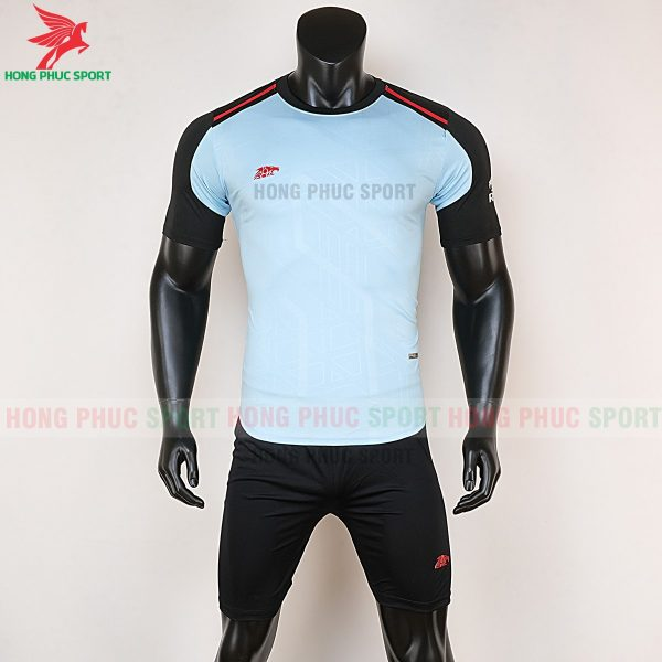 Áo bóng đá không logo Riki Shaman thiên thanh