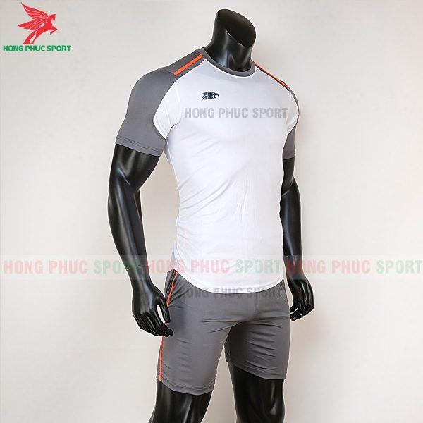 Áo bóng đá không logo Riki Shaman trắng 4