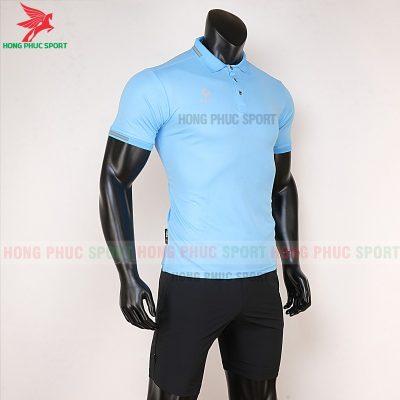áo di chuyển bóng đá polo UV Egan xanh da trời 4