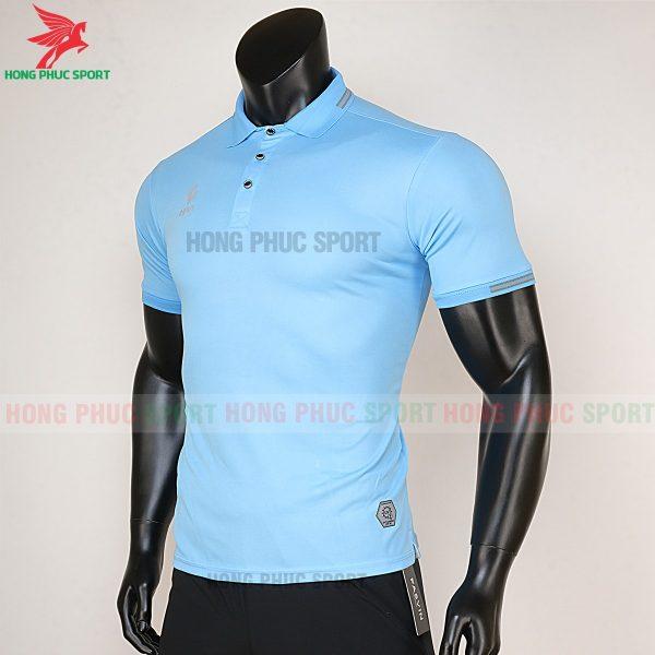 áo di chuyển bóng đá polo UV Egan xanh da trời 2