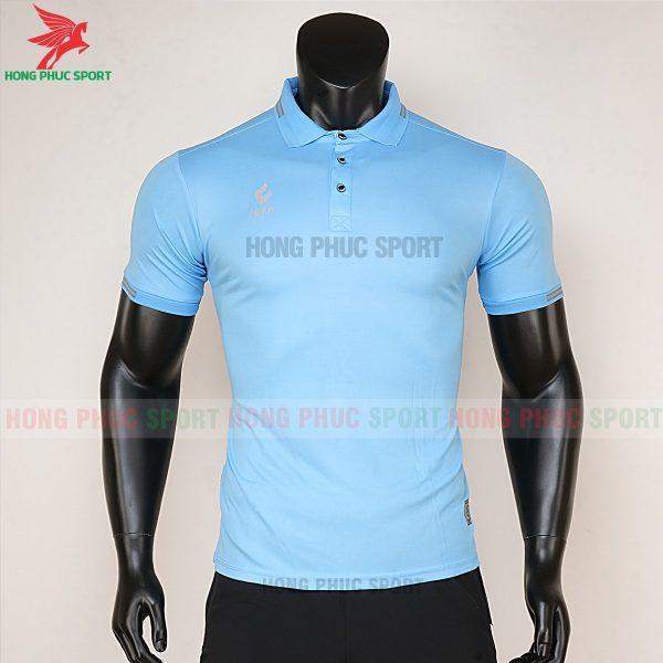 áo di chuyển bóng đá polo UV Egan xanh da trời 1