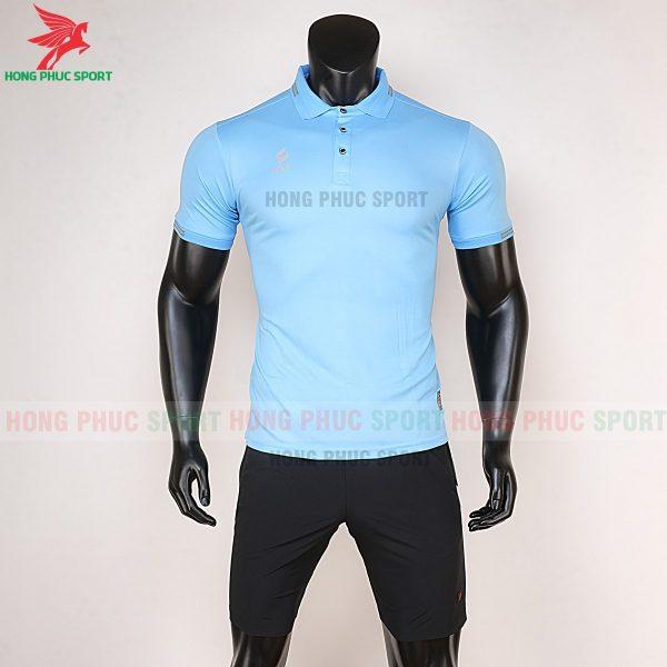 áo di chuyển bóng đá polo UV Egan xanh da trời