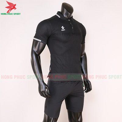 áo di chuyển bóng đá polo UV Egan màu đen 5