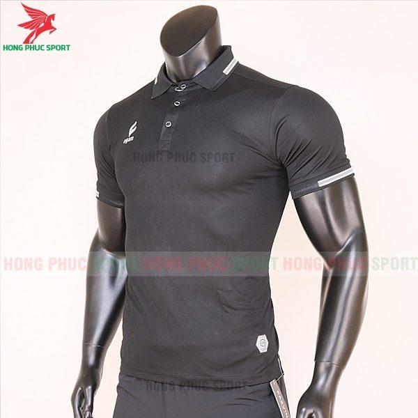 áo di chuyển bóng đá polo UV Egan màu đen 3