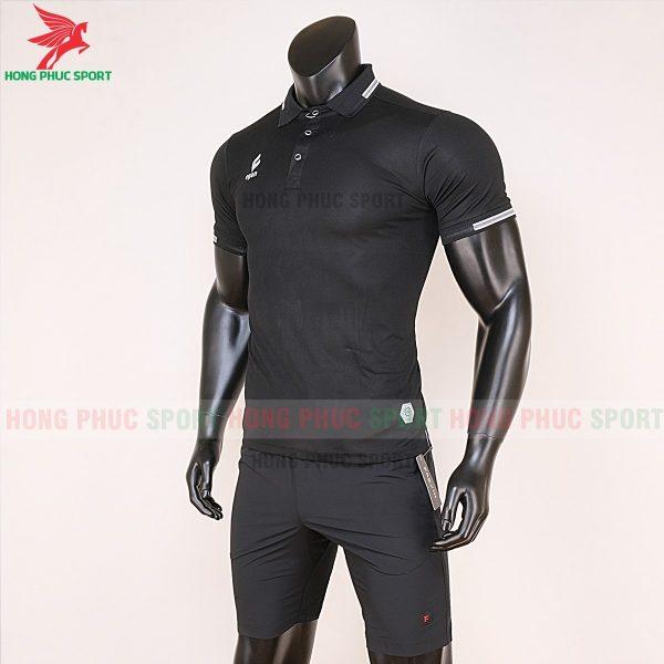 áo di chuyển bóng đá polo UV Egan màu đen 2