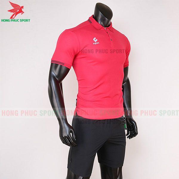 áo di chuyển bóng đá polo UV Egan màu đỏ 4