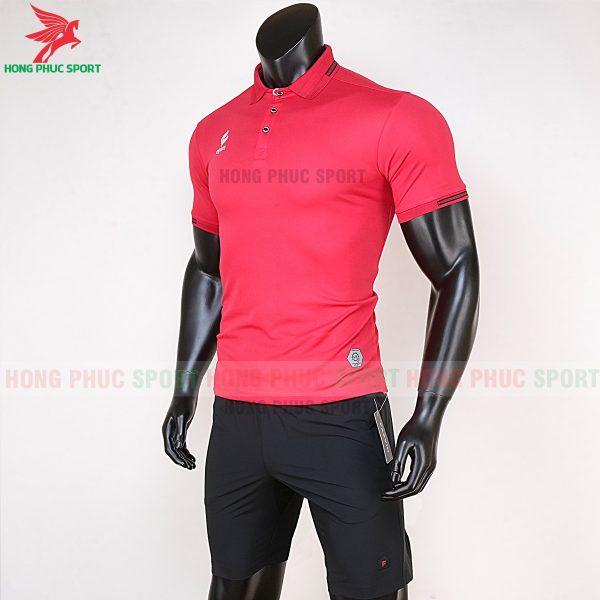 áo di chuyển bóng đá polo UV Egan màu đỏ 3