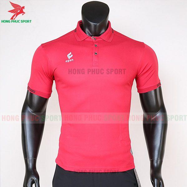 áo di chuyển bóng đá polo UV Egan màu đỏ 1