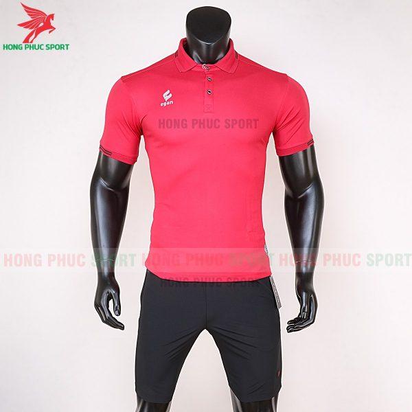 áo di chuyển bóng đá polo UV Egan màu đỏ