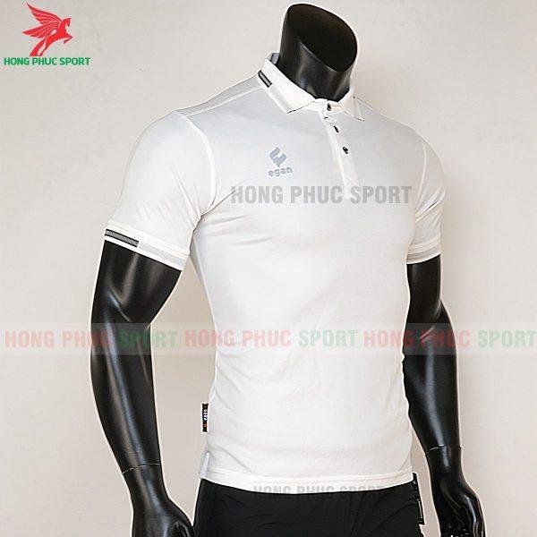 áo di chuyển bóng đá polo UV Egan trắng 5