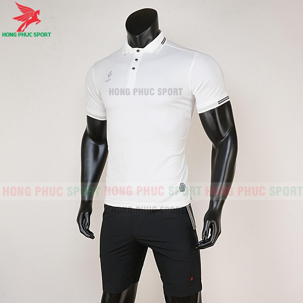Quần áo di chuyển đá bóng Polo UV Egan trắng