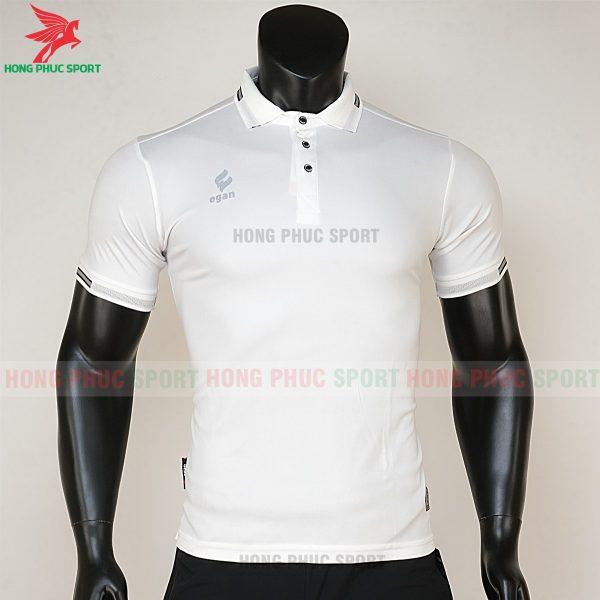 áo di chuyển bóng đá polo UV Egan trắng 1