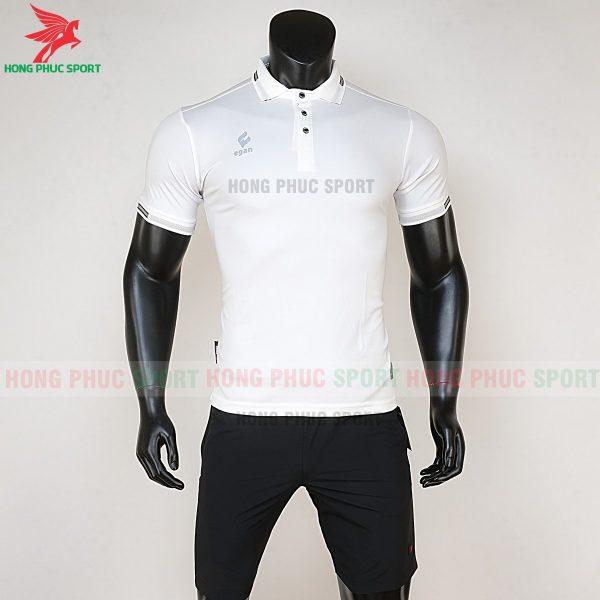áo di chuyển bóng đá polo UV Egan trắng
