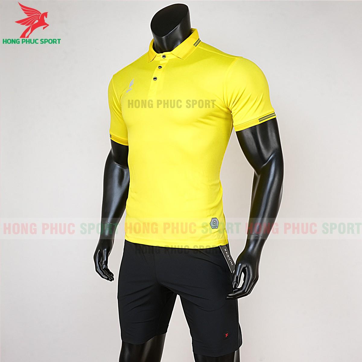 Quần áo di chuyển đá bóng Polo UV Egan vàng