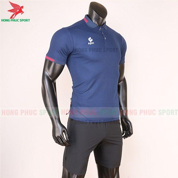 áo di chuyển bóng đá polo UV Egan xanh đen 5