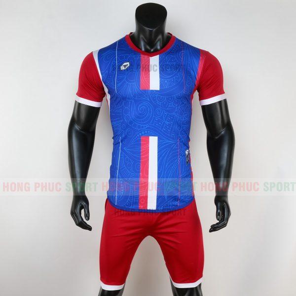 Áo bóng đá không logo forest màu xanh đỏ 6