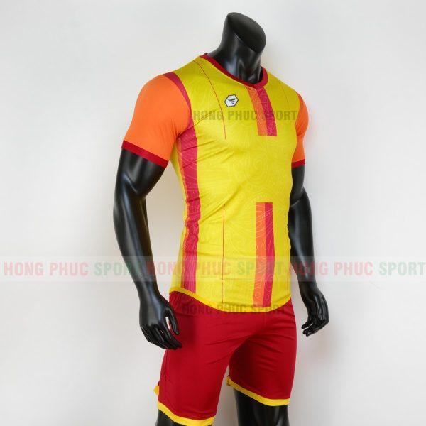 Áo bóng đá không logo forest màu vàng 1