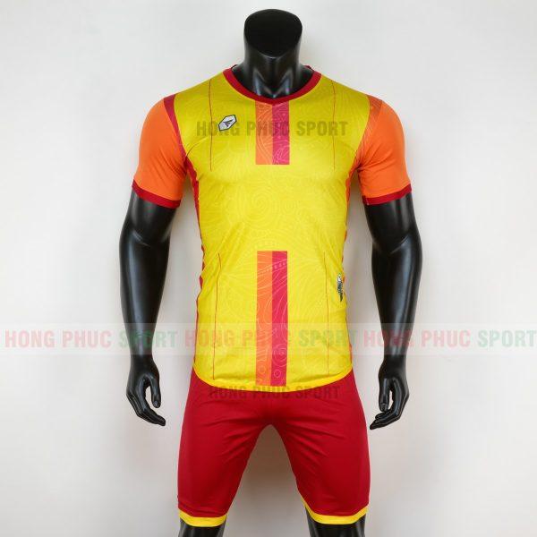 Áo bóng đá không logo forest màu vàng 6