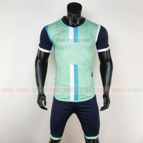 Áo bóng đá không logo forest màu xanh ngọc 6