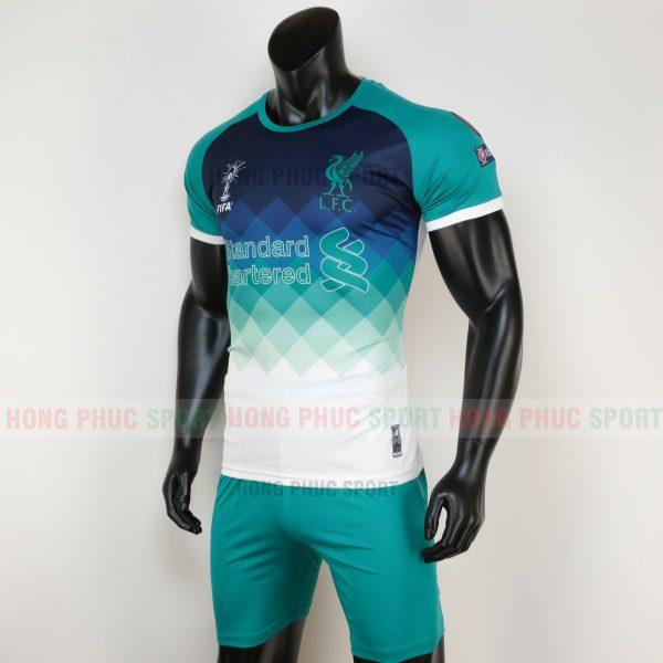 áo bóng đá liverpool 2020 màu xanh ngọc 4