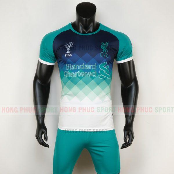 áo bóng đá liverpool 2020 màu xanh ngọc 5
