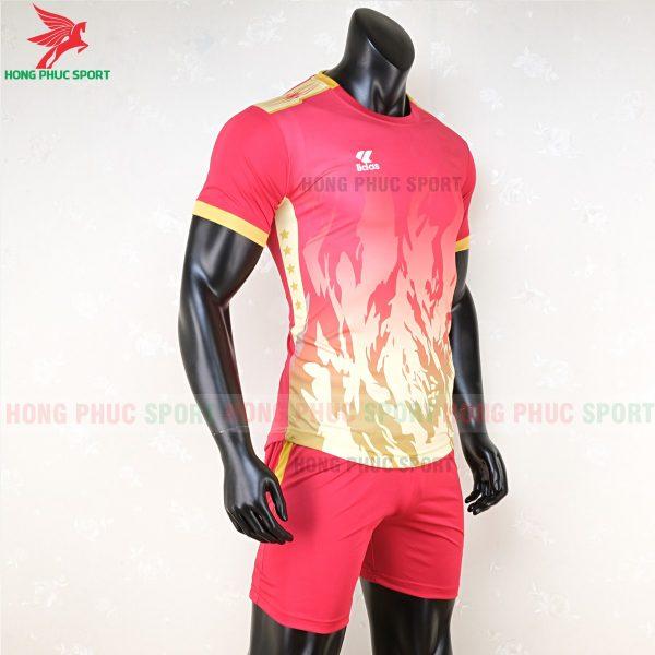 áo bóng đá không logo lidas 089 đỏ vàng 4