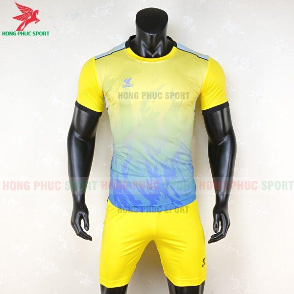 áo bóng đá không logo lidas 089 vàng xanh 1