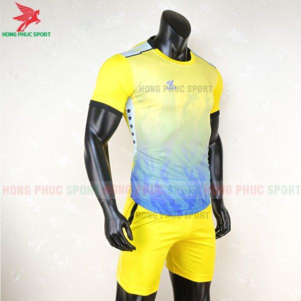 áo bóng đá không logo lidas 089 vàng xanh 5