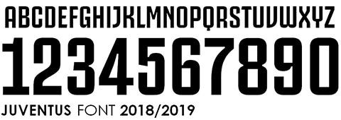 Font số áo bóng đá Juventus đẹp nhất 2018 2019
