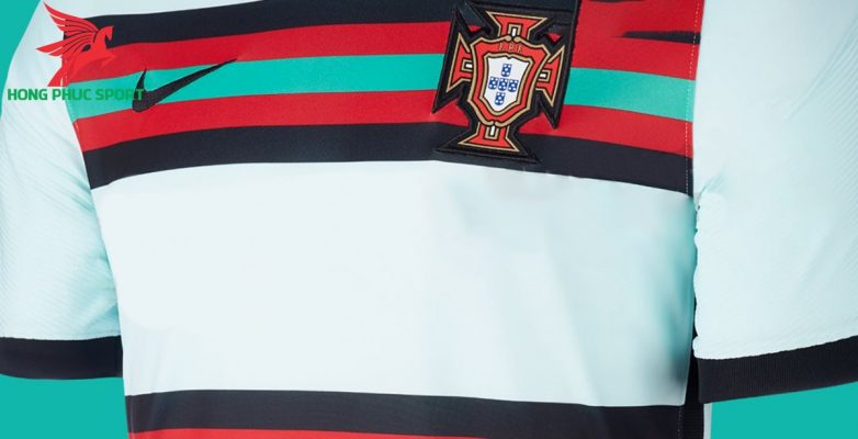 Áo bóng đá Bồ Đào Nha sân khách Euro 2020 xanh ngọc 2
