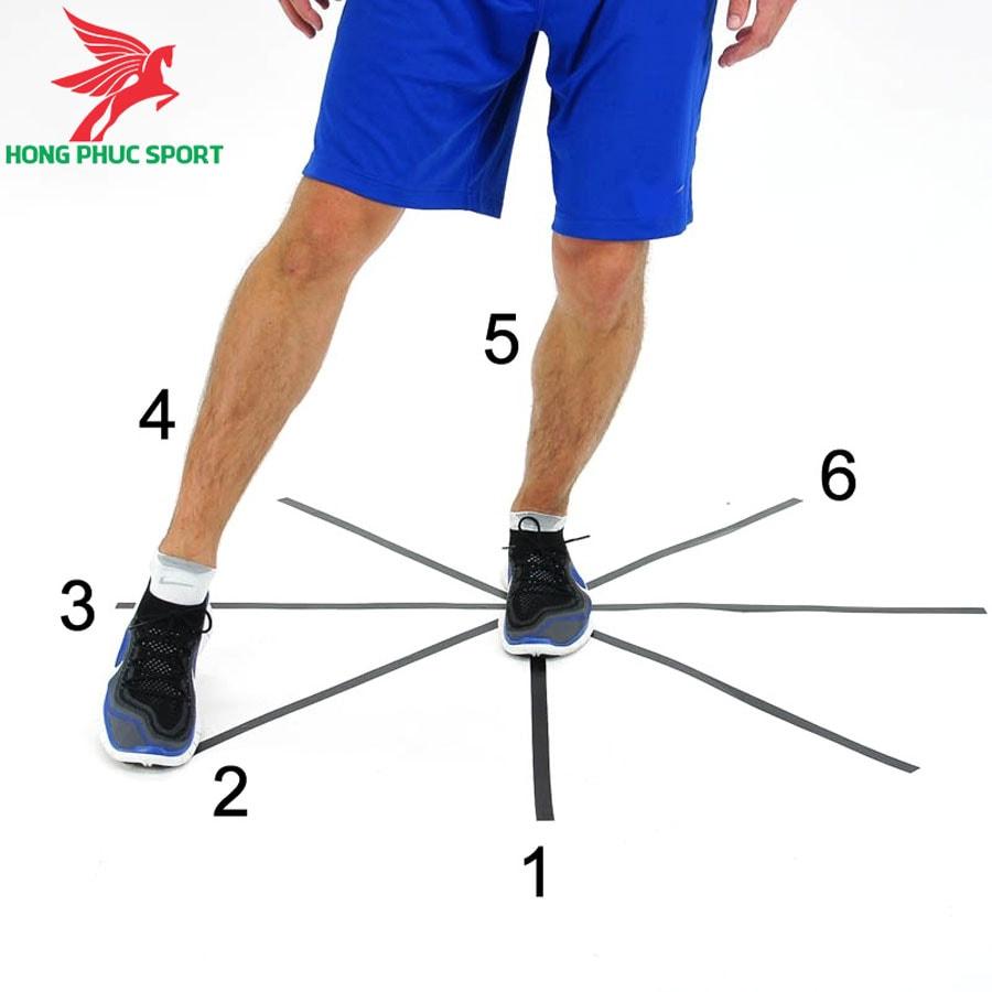 Bài tập thăng bằng trong bóng đá - One-legged-clocks