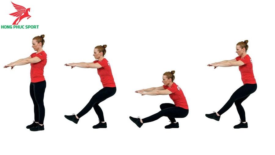 Bài tập thăng bằng trong bóng đá - Squat với một chân